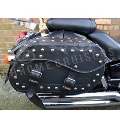 Motorcycle Leather Saddlebag (pair) C12B