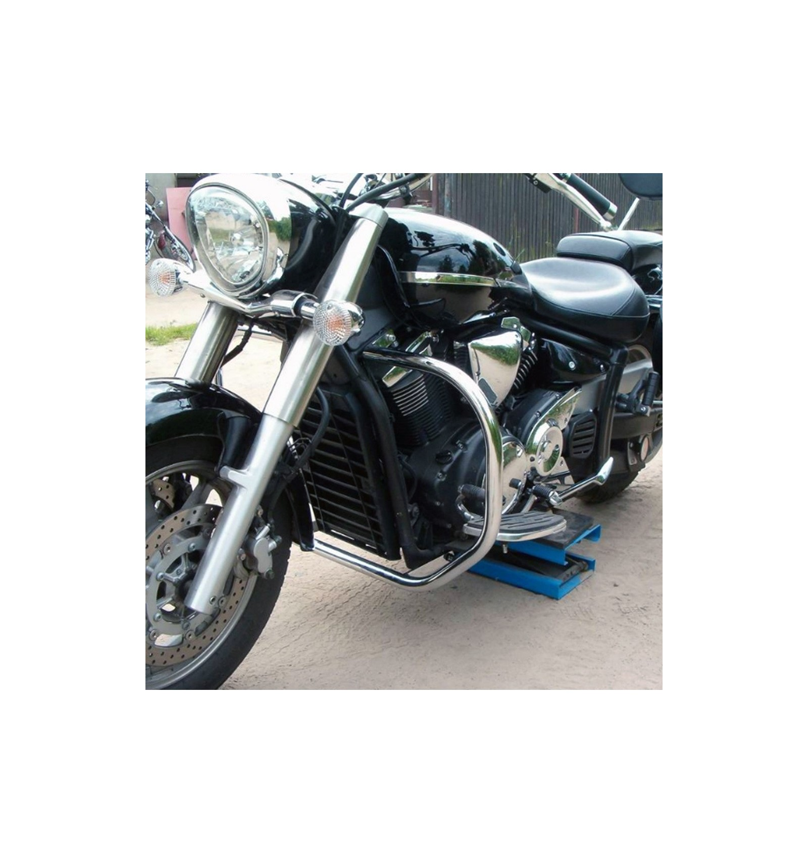 yamaha xvs 1300 midnight star chrome engine crash bar. Black Bedroom Furniture Sets. Home Design Ideas