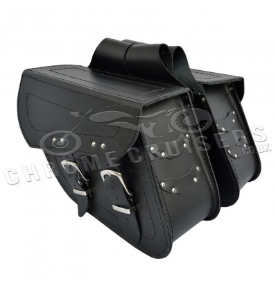 Motorcycle Leather Saddlebags C13A