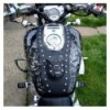 Honda VTX1800 Custom Leather Tank Bib / Chap with studs