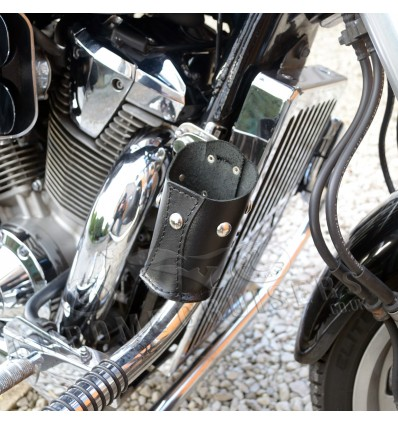 (N1B) Motorcycle leather drink holder - with studs