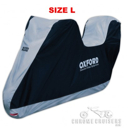 Oxford Aquatex Essential Waterproof  Motorcycle Rain Cover – Size Large