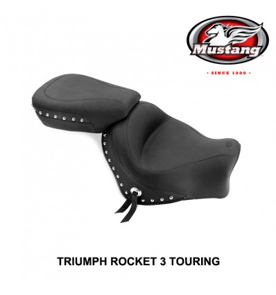 Triumph Rocket 3 Touring (2008-up) Mustang Two Piece Studded Seat