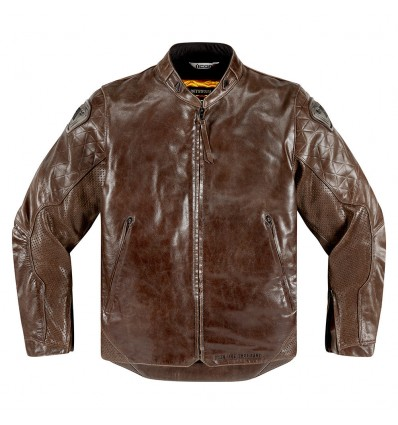 ICON One Thousand Retrograde Motorcycle Brown Jacket