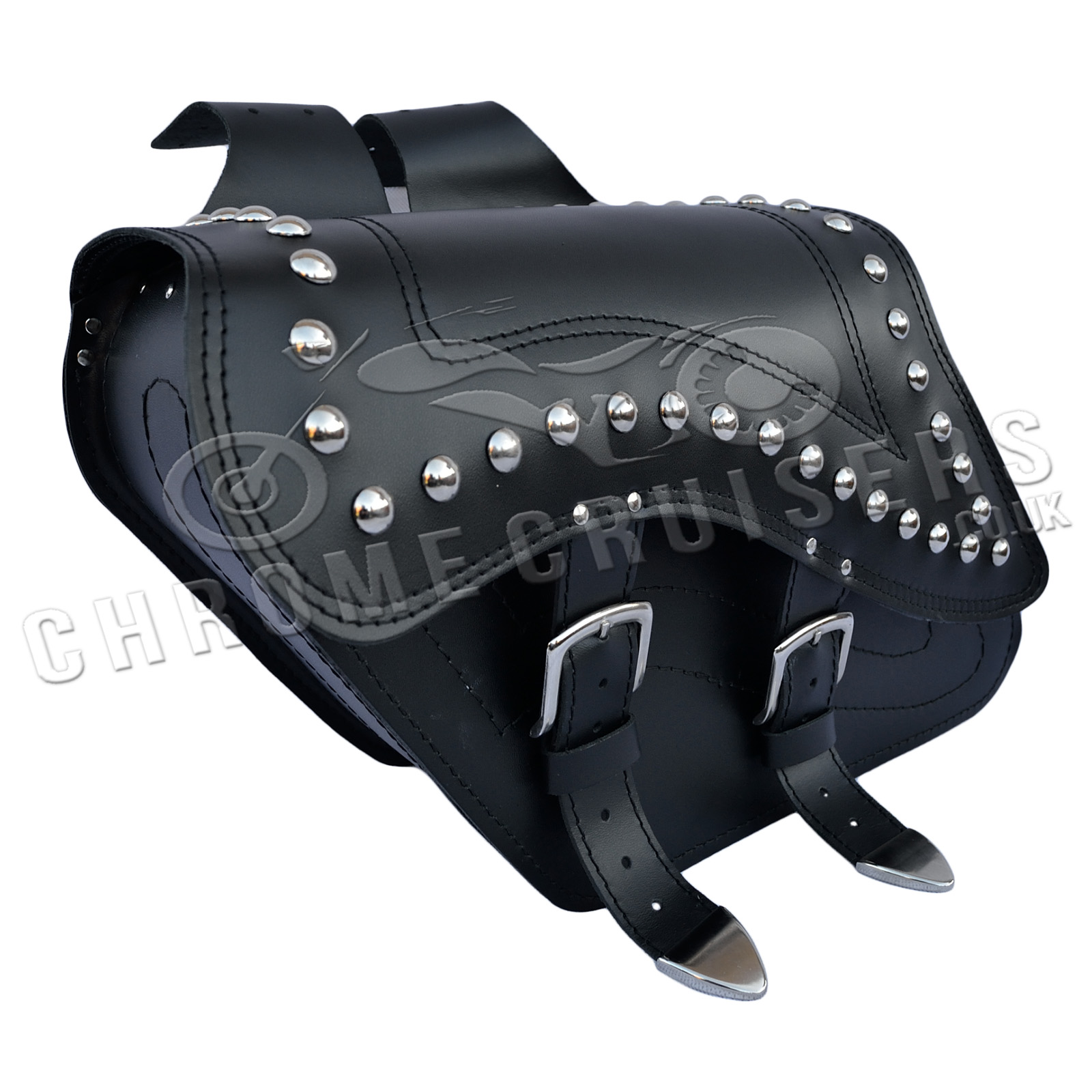 Motorcycle leather saddlebags panniers yamaha xv535 750 for Yamaha virago 1100 saddlebags