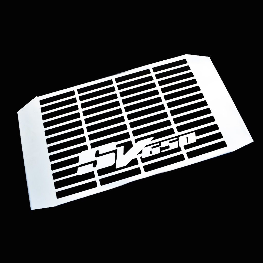 suzuki sv650n 1999 2002 acier inoxydable cache radiateur grille protection ebay. Black Bedroom Furniture Sets. Home Design Ideas