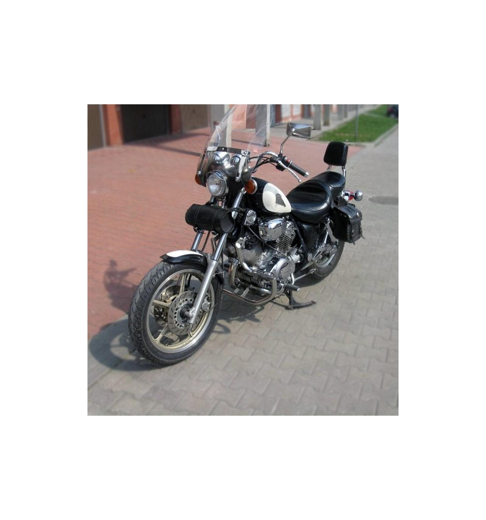 YAMAHA XV1100 VIRAGO HIGHWAY CRASH BAR ENGINE GUARD W// FOOT PEGS STAINLESS STEEL