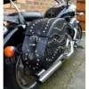 (C15B) Motorcycle Leather Saddlebag (left and right) Harley Davidson all models