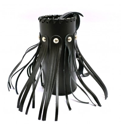 Motorcycle leather drink holder - large