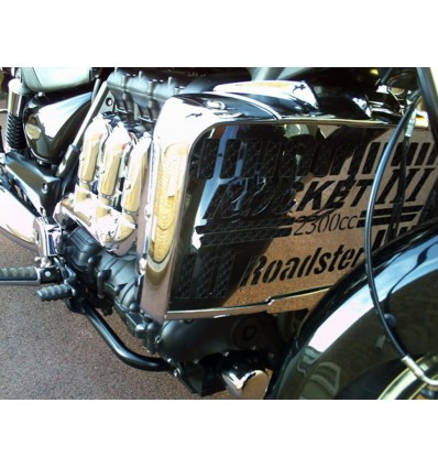 Triumph Rocket III CLASSIC / ROADSTER / TOURING Chrome Radiator Cover Grill Protector (R)