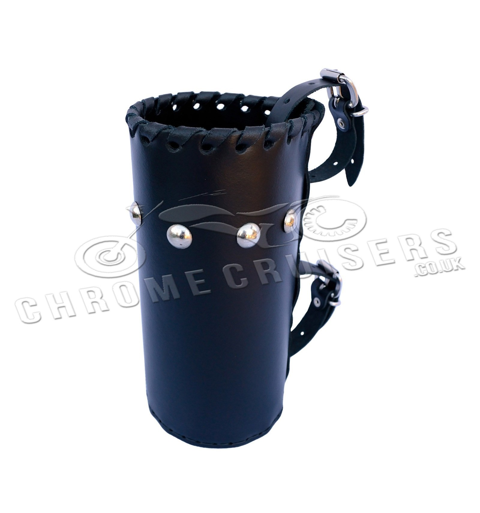 Harley Davidson Windshields >> Motorcycle leather drink holder - large (N4B) - Chrome Cruisers