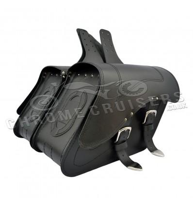 Motorcycle leather saddlebags - Harley Davidson (all models)