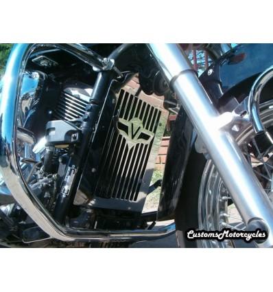 Kawasaki VN900 VULCAN CLASSIC CUSTOM Chrome Radiator Cover Grill Guard