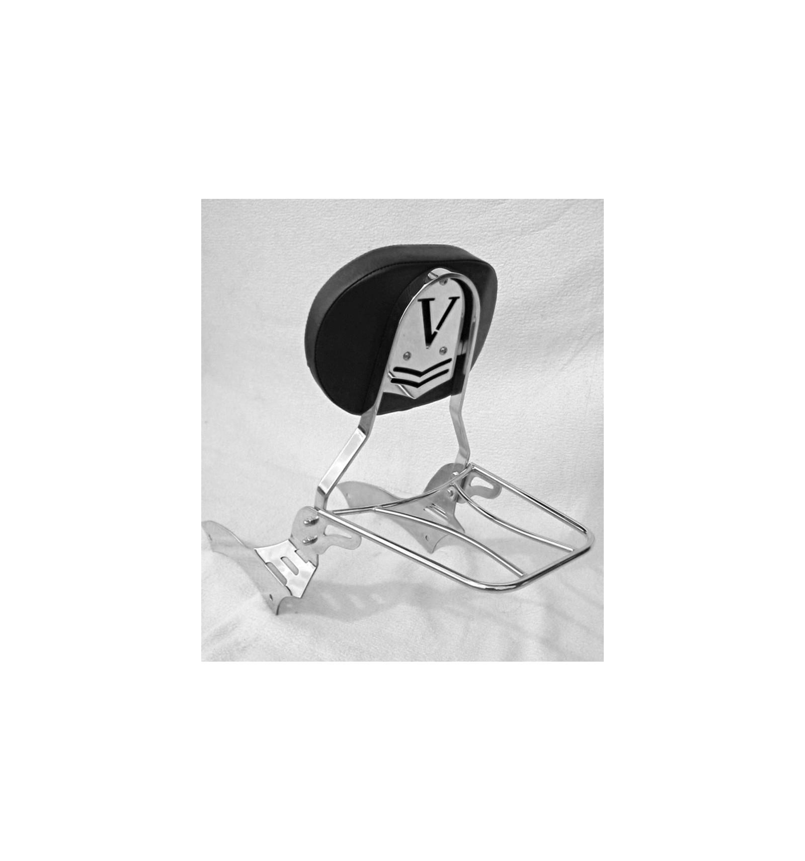 kawasaki vn900 passenger backrest sissybar with rack. Black Bedroom Furniture Sets. Home Design Ideas
