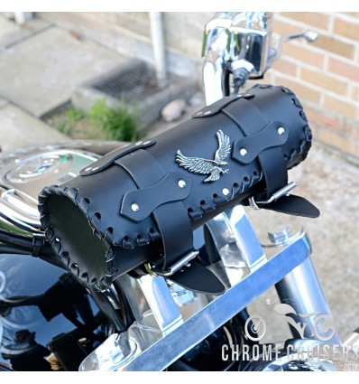 Motorcycle leather tool roll - Eagle
