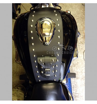 Honda Valkyrie FC6 / GL1500 Leather Tank Panel with Rivets.