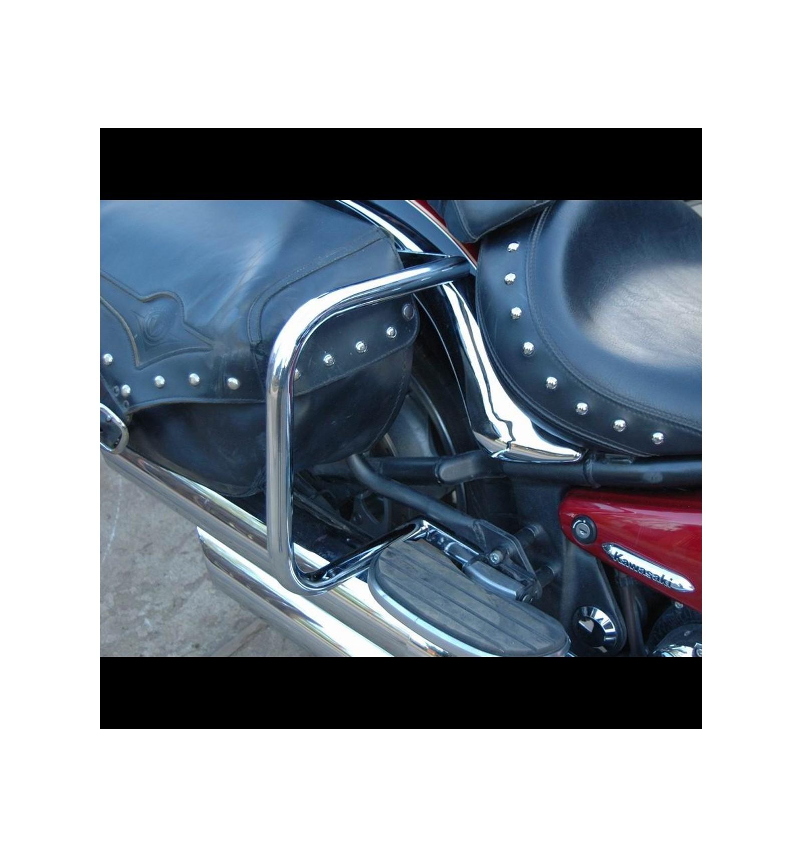 KAWASAKI VN900 VULCAN CLASSIC CUSTOM CHROME REAR SADDLEBAG GUARD CRASH  BARS