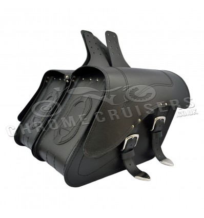 Motorcycle leather saddlebags / panniers C29A