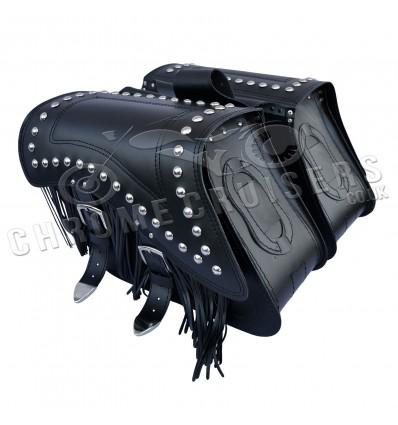 Motorcycle leather saddlebags - C29C