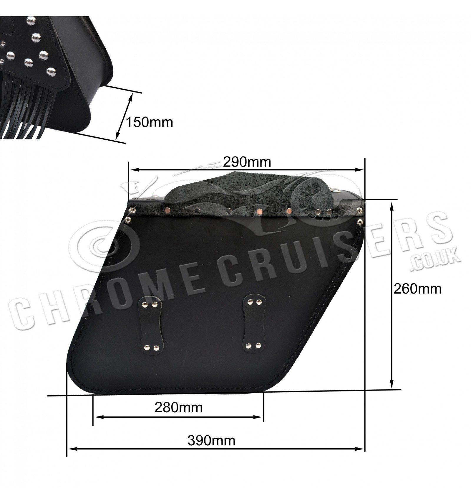 Motorcycle Leather Saddlebags