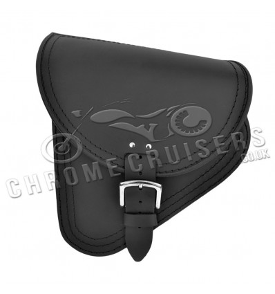 Harley Davidson Softail - Black Leather Swingarm Saddlebag (C59)