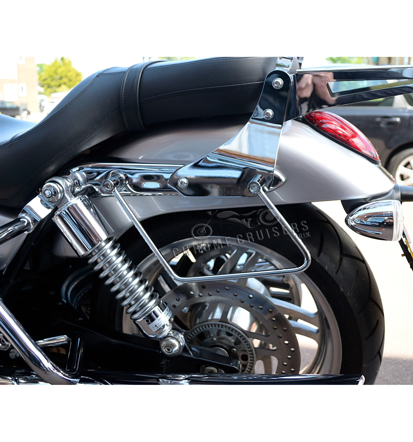 triumph thunderbird storm 1700 saddlebag support brackets chrome cruisers. Black Bedroom Furniture Sets. Home Design Ideas