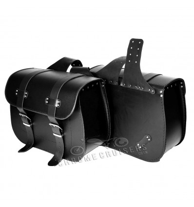 Top Quality Motorcycle Handmade Leather Saddlebags Panniers (pair) C101A - 21L