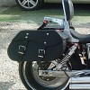 Motorcycle Leather Saddlebag (pair) C12A