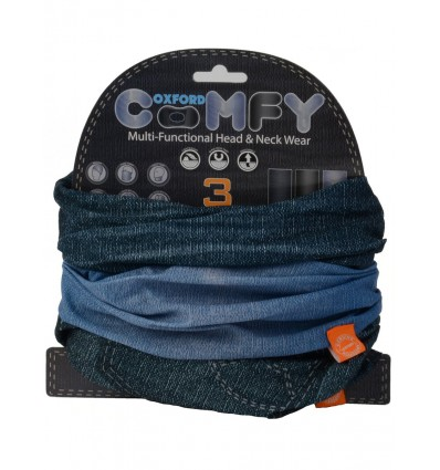 Oxford Comfy Multi-Functional Neck Warmer - Jeans 3 PACK