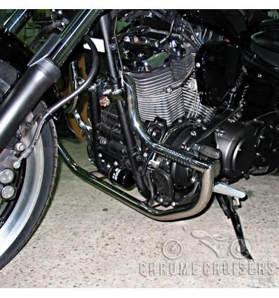 Yamaha XV1900 Rider Stainless Steel Engine Guard / Crash Bar with pegs