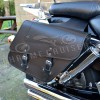 Motorcycle leather saddlebags C28A (11L)