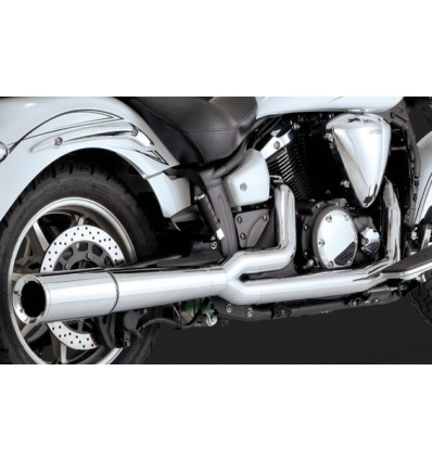 Yamaha XVS1300 Midnight Star V-Star 1300 Vance & Hines Pro Pipe Chrome Full  Exhaust System