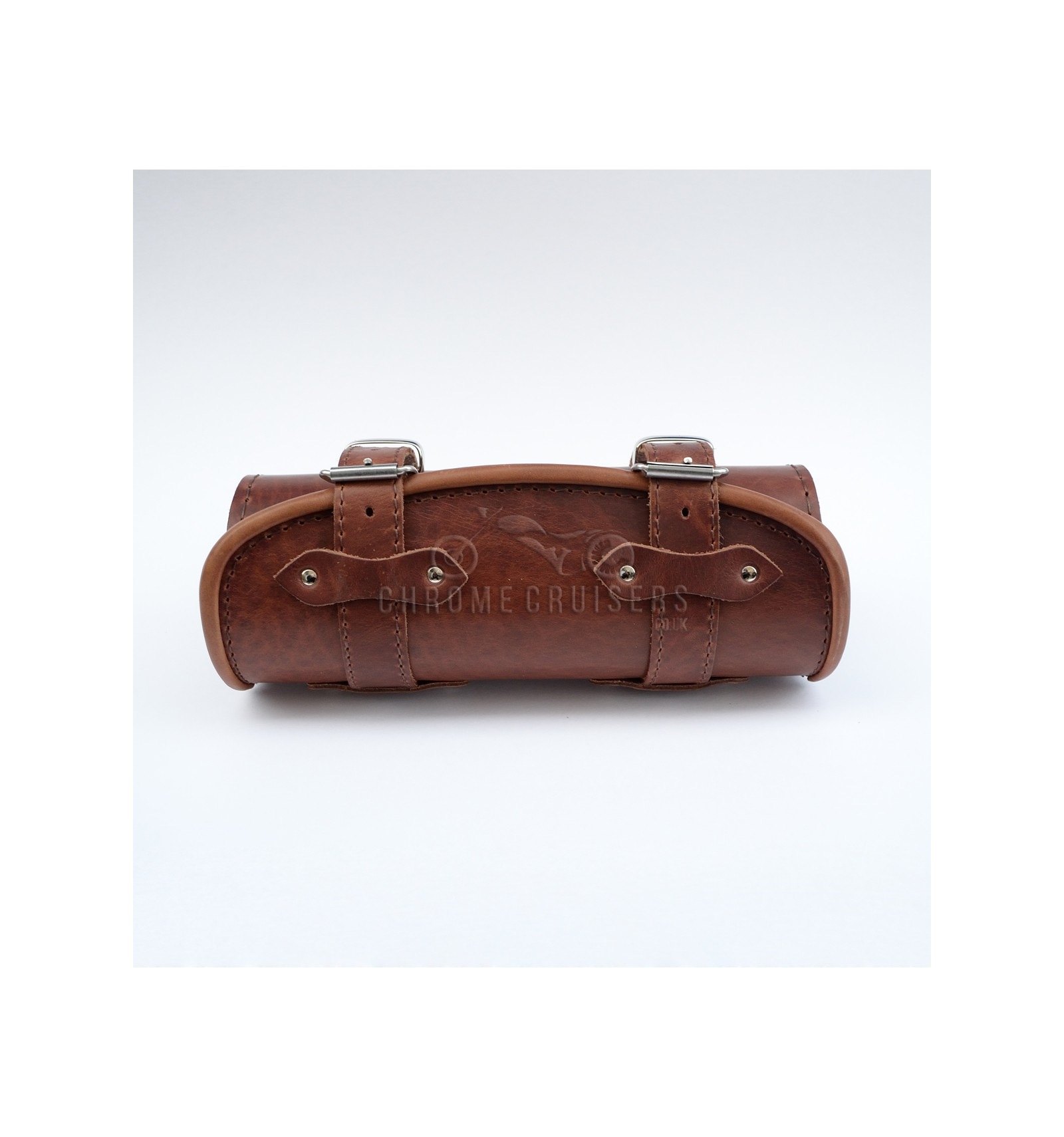 Unique Brown Leather Tool Roll Bag Pouch Chrome Cruisers