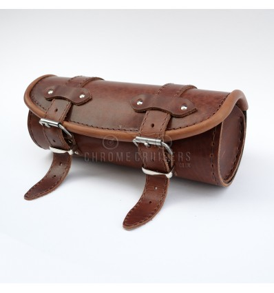UNIQUE BROWN LEATHER TOOL ROLL / BAG / POUCH