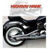 Yamaha XVS650 V-STAR Classic / Custom Highway Hawk Fat Pipes Staggered Full Exhaust System