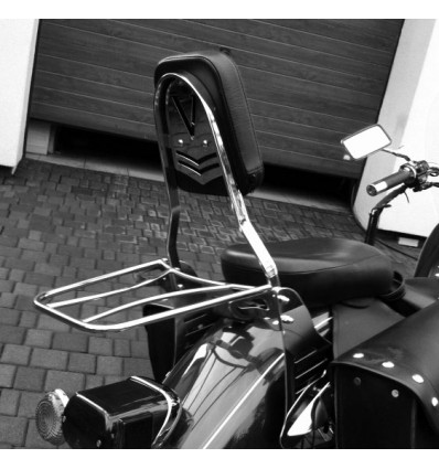 Yamaha XVS125 Drag Star Sissy bar / Passenger backrest with rack