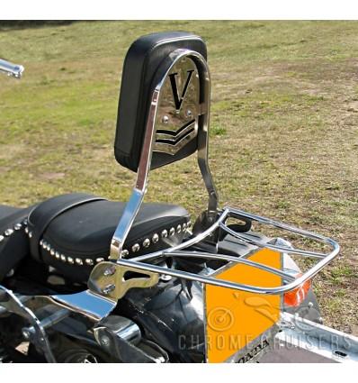 Honda VT125 Shadow Sissy bar / Passenger Backrest with luggage rack
