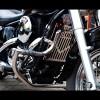 Kawasaki VN800 Classic / Vulcan / Drifter Engine Guard with built in pegs