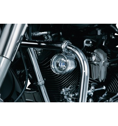 Kuryakyn Engine Guard Mounted Driving Lights with brackets