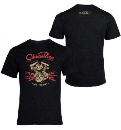 Salinas Boys Black Short Sleeve Cole Customs Motor T-Shirt