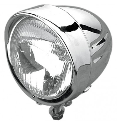 "DragSpecialties 11,5 cm (4 1/2"") Chrome Spotlight W/Visor"