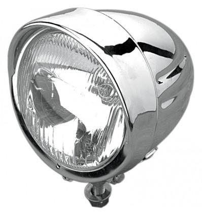 """DragSpecialties 11,5 cm (4 1/2"""") Chrome Spotlight W/Visor"""
