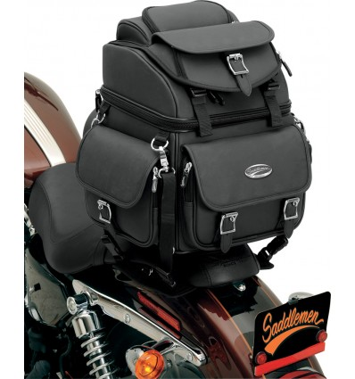 Saddlemen Back Seat Sissy Bar Bag With Rider Backrest
