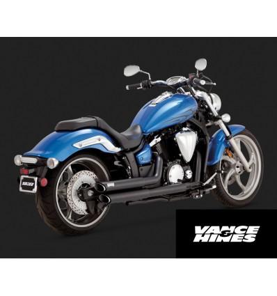 Yamaha XVS1300C Custom/Stryker/Stryker Bullet Cowl Vance & Hines Twin Slash Staggereds Exhaust System