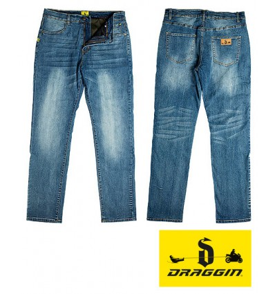 Draggin Rebel Kevlar Jeans - Indigo Blue