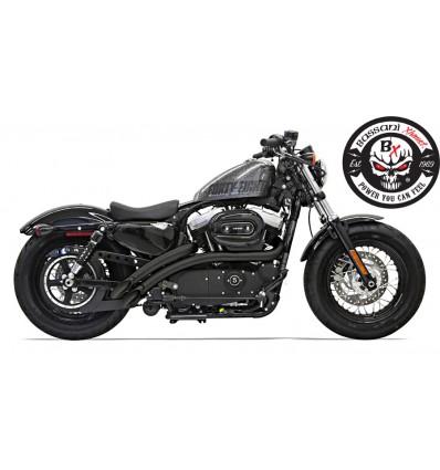 Harley Davidson Sportster XL883/1200 Bassani Exhaust Radial Sweeper Black