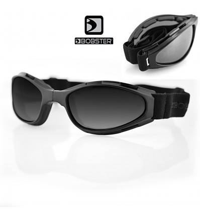 Bobster Crossfire Motorcycle Folding Goggle with Anti-Fog Smoked Lenses