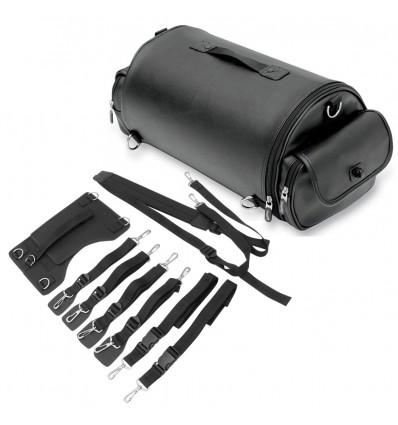 Saddleman EXR1000 Drifter style rambler roll bag without studs