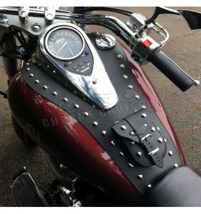 KAWASAKI VN 900 VULCAN LEATHER TANK PANEL/CHAP WITH POUCH
