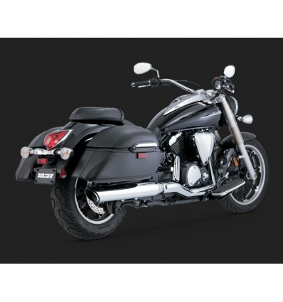 Yamaha XVS950 Midnight Star Vance & Hines Twin Slash Round Slips-Ons